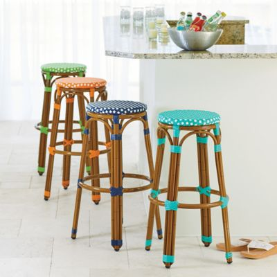Marseille Resin Wicker Bar Stools-Set of 2