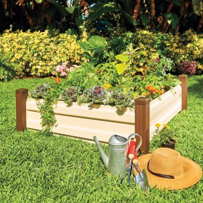 Metal Raised Garden Bed with Corner Posts