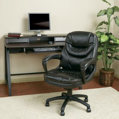 Faux Leather Executive Chair with Padded Arms