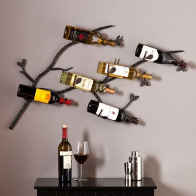 Tree Branch Wall Mounted Wine Rack