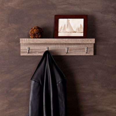 Argo Wall Shelf with Hooks