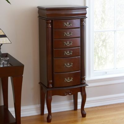 Classic Queen Anne Jewelry Armoire