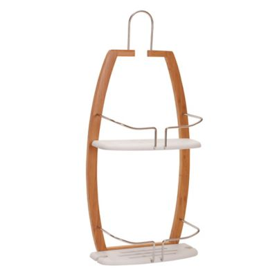 Bamboo and Metal Shower Caddy