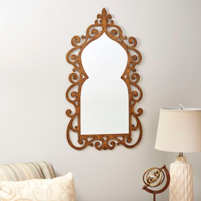 Scrolled Metal Wall Mirror