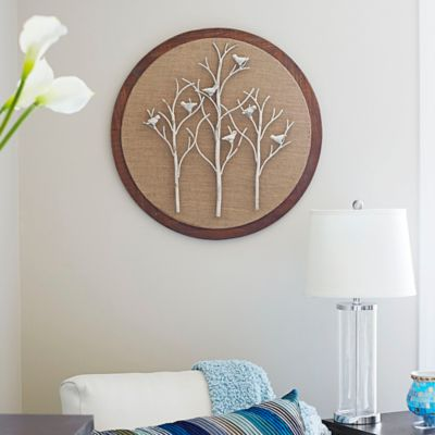 Birds and Trees Wood Wall Decor