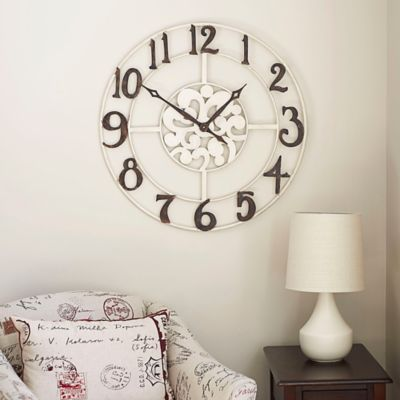 Large Numbers Metal Wall Clock