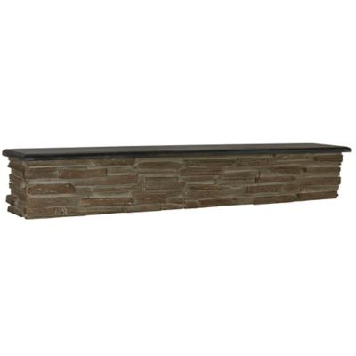 Faux Stone Mantle Wall Shelf