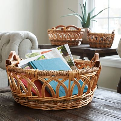 Robin Wicker Storage Baskets-Set of 3