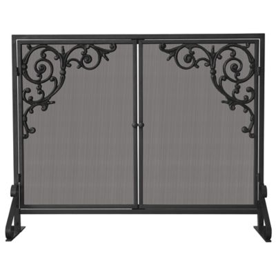 Olde World Scroll Fireplace Screen with Doors