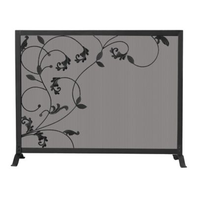 Leaf and Scroll Fireplace Screen