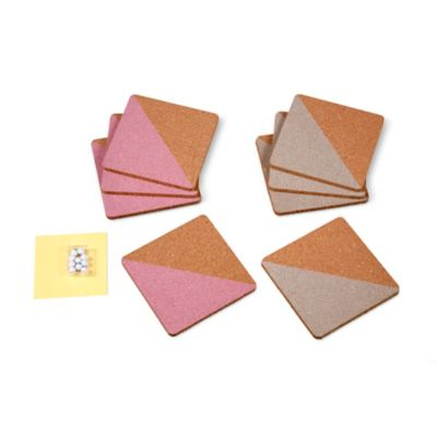 Peel & Stick Decorative Cork Board Tiles