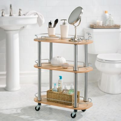 3-Shelf Rolling Bathroom Cart