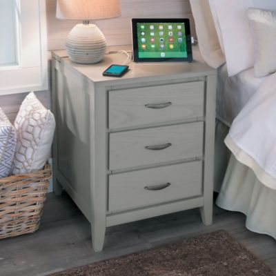 Brooklyn Side Table/Nightstand with Charging Station