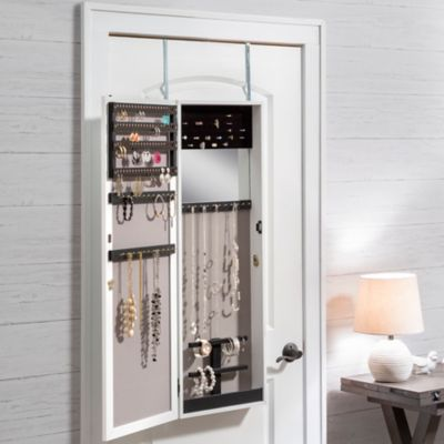"42"" Over-the-Door Mirror Jewelry Armoire"