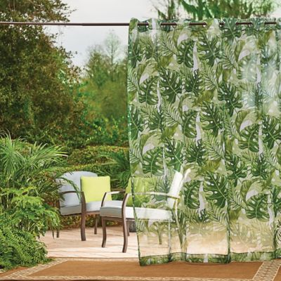 Banana Leaf Grommet-Top Outdoor Curtain Panels