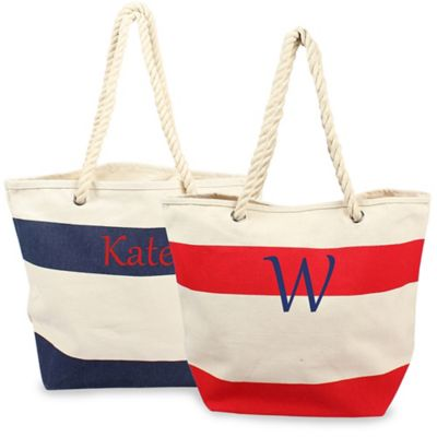 Personalized Canvas Tote with Rope Handles