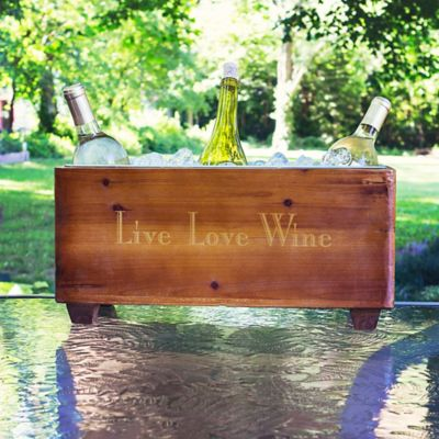 Personalized Wooden Trough Wine Chiller