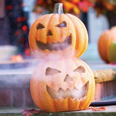 Fogging Pumpkin Stack Halloween Decoration