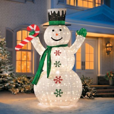 6' Collapsible Snowman LED Outdoor Christmas Decoration