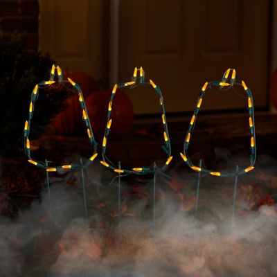Pumpkin Outline Path Lights Outdoor Halloween Decoration