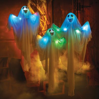 Color Changing Floating Ghosts Outdoor Halloween Decoration-Set