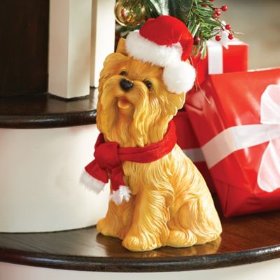 Yorkie Dog Christmas Decoration
