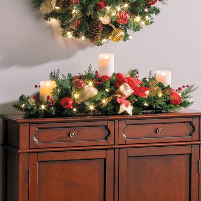 3' Pre-Lit Madison Christmas Centerpiece