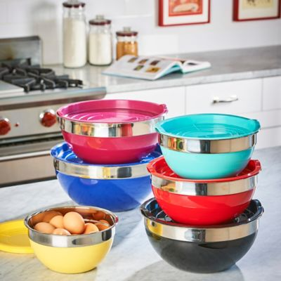 12-Pc Rainbow Mixing Bowl Set