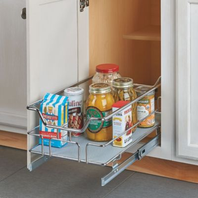 Lower Cabinet Pull-Out Drawer Organizer with Base