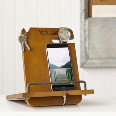 Personalized Wooden Smartphone & Tablet Docking Station