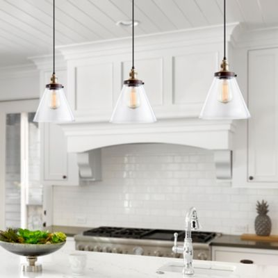 Industrial Glass Instant Pendant Light