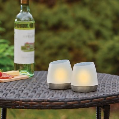 Flip 'n Charge Solar LED Candles-Set of 2