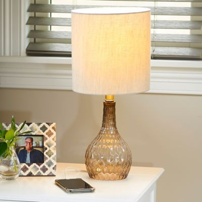 Ombre Honeycomb Glass Table Lamp