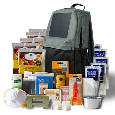 5 Day Emergency Survival Kit Solar Backpack