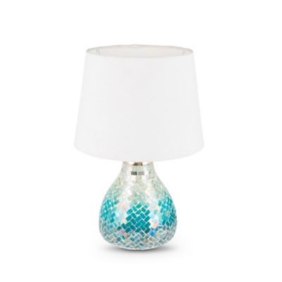Blue Glass Mosaic Table Lamp