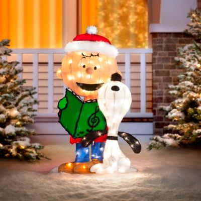 Charlie Brown and Snoopy Caroling Lighted Outdoor Christmas