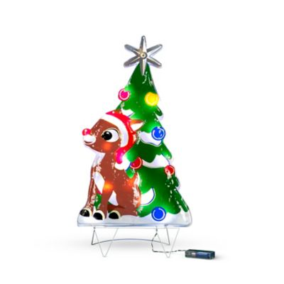 2' Festive Rudolph Lighted Christmas Decoration