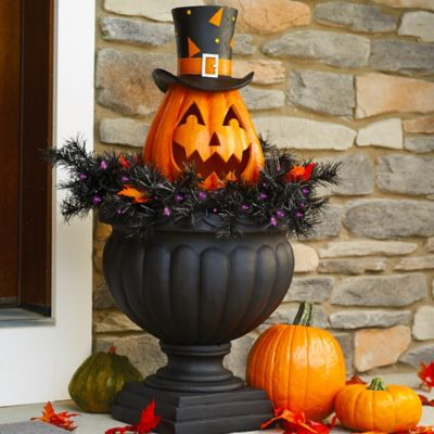 Lighted Pumpkin Halloween Yard Decoration