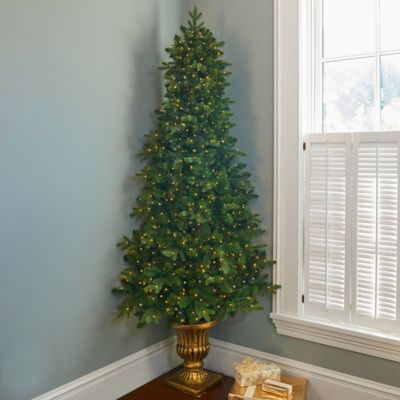 7' Corner Christmas Tree with Lights