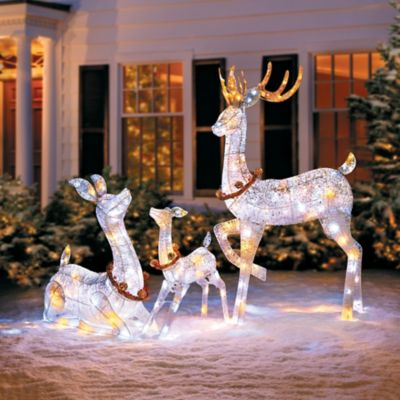 Twinkling Lighted Reindeer Family