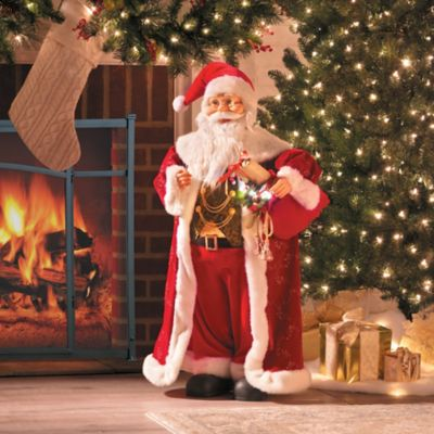 3' Animated Santa with Music Christmas Decor