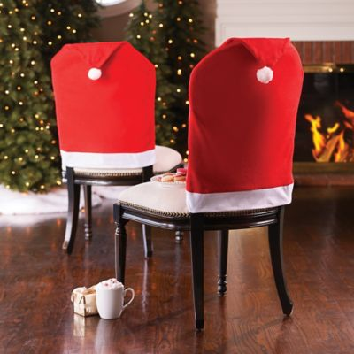 Santa Hat Christmas Chair Covers-Set of 2