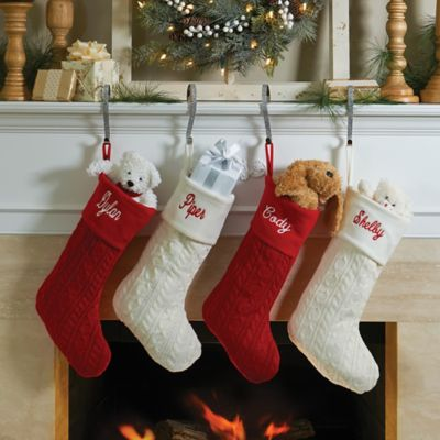 Knitted Personalized Christmas Stocking