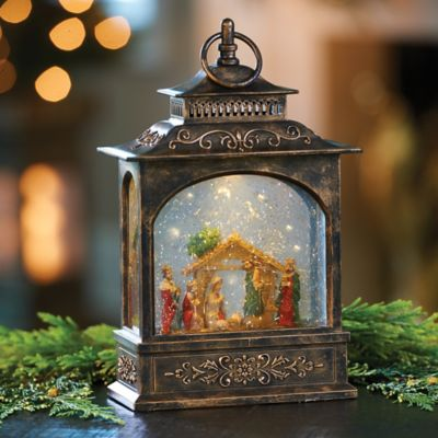 Nativity Scene Snow Globe Lantern Christmas Decoration