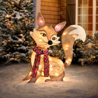 Lighted Fox Outdoor Christmas Decoration