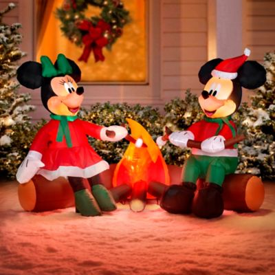 4' Minnie and Mickey Mouse Christmas Inflatable
