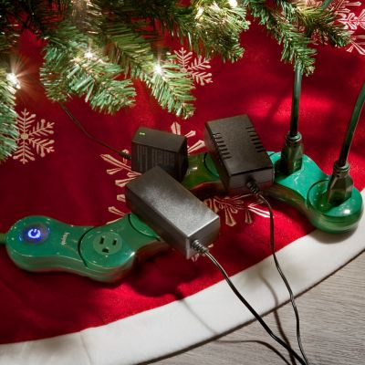 Quirky 6-Outlet Power Surge Protector-Holiday Green