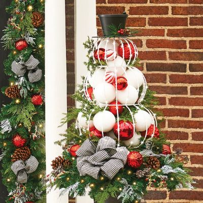Lighted Metal Snowman Outdoor Christmas Decoration