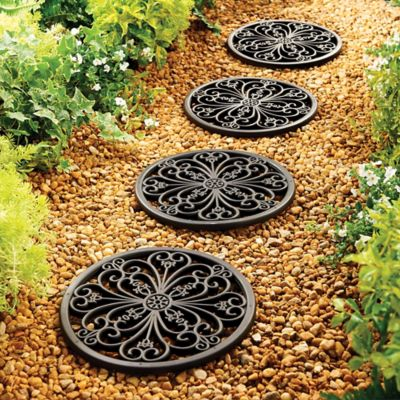 Sudbury Rubber Round Stepping Tiles-Set of 3