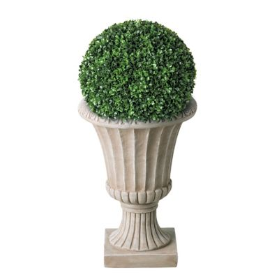 "14"" Boxwood Topiary Ball"